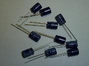 100 uF Electrolytic Capacitor, 50VDC, radial lead, 10 pack