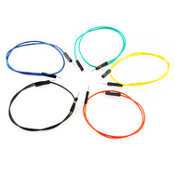 "1 pin, 12"" M/M Jumper Wires, 10 pack"