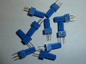 10 k ohm, single turn, top post, potentiometer