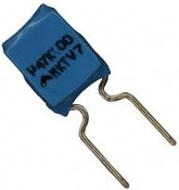 0.47 uF Capacitor, 100V, radial lead, 10 pack